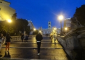 On the way up to Piazza del Campidoglio