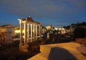 The view of the ancient Roman Forum