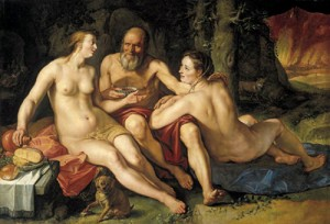 Goltzius, Lot and his Daughters