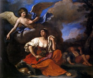 Guercino The Angel Appears to Hagar and Ishmael, 1652-3 National Gallery, London