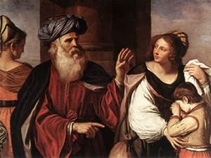 Guercino Abraham Casting Out Hagar and Ishmael, 1657 Pinacoteca di Brera, Milan